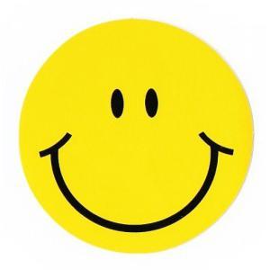 スマイリー ステッカー ジャンボ サイズ プラス (JUMBO size SMILEY) Lプラス サイズ type A -タイ雑貨- taikokuya
