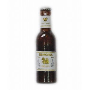 シンハー ビール 3D 立体 ミニチュア マグネット type A(瓶タイプ) / タイ雑貨 SINGHA Beer - アジアン 雑貨 おみやげ キッチン グッズ 冷蔵庫 磁石 -