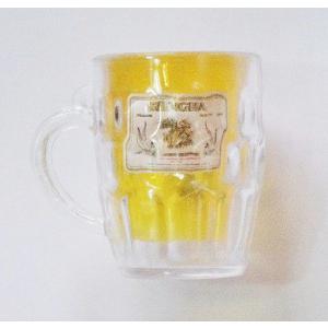シンハー ビール 3D 立体 ミニチュア ビアジョッキ マグネット type C(角ジョッキ) / タイ雑貨 SINGHA Beer - アジアン 雑貨 キッチン グッズ 冷蔵庫 -
