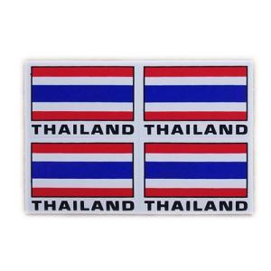 ステッカー タイ 王国 国旗(THAI 4p-英語文字 mix ) S サイズ t-A /  雑貨  アジアン シール taikokuya