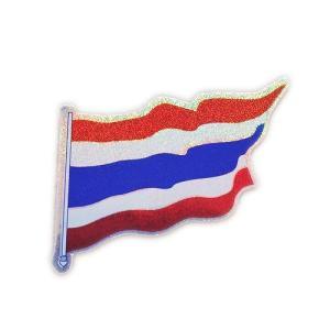 ステッカー タイ 王国 国旗 (THAI) S サイズ ラメ t-A1 /  雑貨  アジアン シール taikokuya