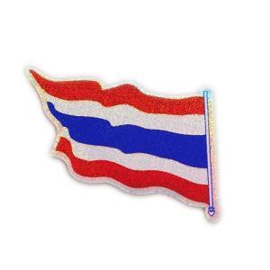 ステッカー タイ 王国 国旗  (THAI) S サイズ ラメ t-A2 /  雑貨  アジアン シール taikokuya