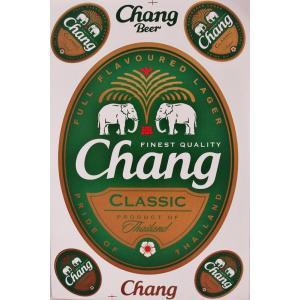 ステッカー チャーン ビール BEER CHANG 酒 グッズ Lサイズ シール タイ旅行 おみやげ|taikokuya
