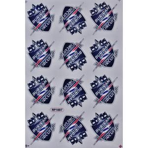 ステッカー ブリーラム・ユナイテッド サーキット エンブレム( 紋章 ロゴ) (12P mix) L サイズ (Bタイプ)サッカー フットボール デカール taikokuya