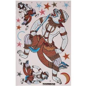 ステッカー タイ 王国 ハヌマーン 神 15P-A L サイズ アジアン シール|taikokuya