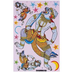 ステッカー タイ 王国 ハヌマーン 神 15P-B L サイズ アジアン シール|taikokuya