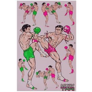 ステッカー タイ 王国 ムエタイ キック ボクシング グッズ (MUAY-THAI 7-C) L サイズ / おみやげ 旅行|taikokuya