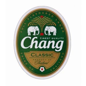 ステッカー チャーン ビール BEER CHANG 酒 グッズ M サイズ おみやげ 旅行 シール|taikokuya
