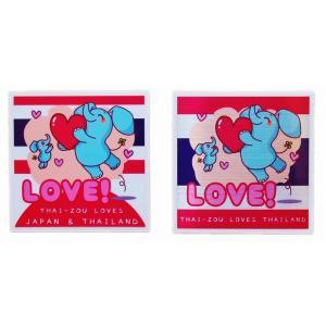 国旗 ステッカー タイぞう ラブ 2P mix ステッカー LOVE(だいすき) t1&t4|taikokuya
