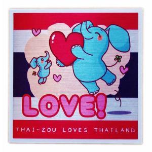 国旗 ステッカー タイぞう ラブ タイランド LOVE(だいすき)/ t1 | タイ 国旗 ステッカー シール アジアン 雑貨|taikokuya