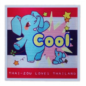 国旗 ステッカー タイぞう ラブ タイランド Cool(超いいね)/ t2 | タイ 国旗 ステッカー シール アジアン 雑貨|taikokuya