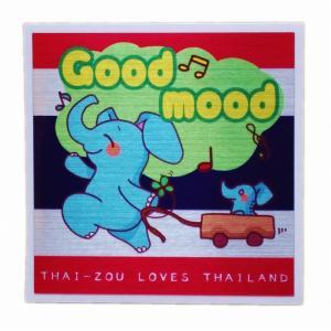 国旗 ステッカー タイぞう ラブ タイランド Good mood(ルンルン)/ t3 | タイ 国旗 ステッカー シール アジア アジアン 雑貨|taikokuya