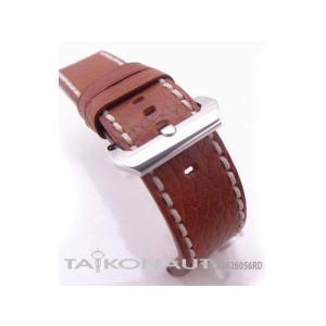 26mm TAIKONAUT 時計ベルト カーフ アンティークカッパー ホワイトステッチ パネライ1950|taikonaut