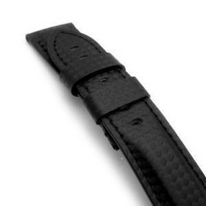 24mm TAIKONAUT 時計ベルト カーボン-ZZ016 パネライ44mm Dバックル対応|taikonaut