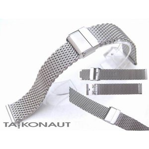 18mm TAIKONAUT ワイヤーメッシュバンド ブラッシュドシルバー|taikonaut