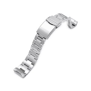 20mm メタル時計バンド ステンレススチール オイスター ブレスレット チャンファーVクラスプ for セイコー MM300 SBDX001, SBDX003, SBDX017 taikonaut