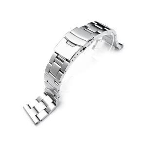 20mm メタル時計バンド ステンレススチール オイスター ブレスレット ブラッシュドシルバー taikonaut