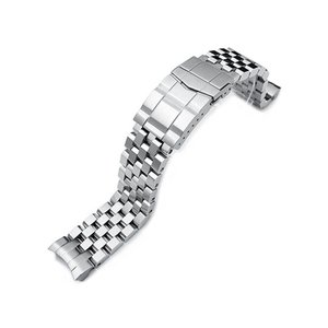 20mm メタル時計バンド ステンレススチール スーパーエンジニア2 サブマリーナクラスプ for SEIKO SUMO SBDC001, SBDC003, SBDC005, SBDC049他
