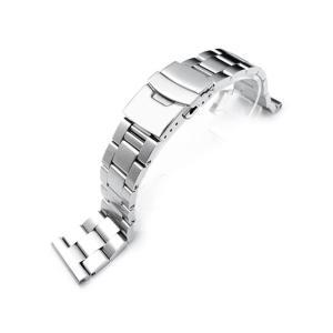 21.5mm メタル時計バンド ステンレススチール オイスター ブレスレット for SEIKO Tuna SBBN011, SBBN013, SBBN025, SBBN029他|taikonaut