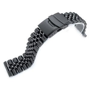 21.5mm メタル時計バンド ステンレススチール ジュビリー ブレスレット PVDブラック for SEIKO Tuna SBBN011, SBBN013, SBBN025, SBBN029他|taikonaut