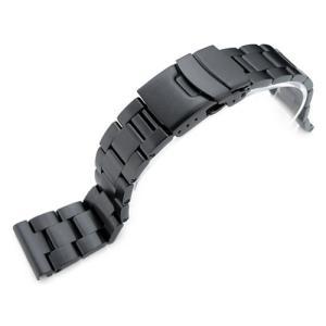 21.5mm メタル時計バンド ステンレススチール オイスター ブレスレット PVDブラック for SEIKO Tuna SBBN011, SBBN013, SBBN025, SBBN029他|taikonaut
