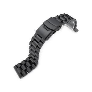 21.5mm メタル時計バンド ステンレススチール エンドミル ブレスレット PVDブラック for SEIKO Tuna SBBN011, SBBN013, SBBN025, SBBN029他|taikonaut