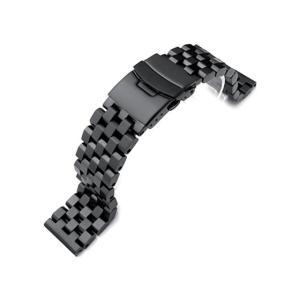 21.5mm メタル時計バンド ステンレススチール スーパーエンジニア2 ブレスレット PVDブラック for SEIKO Tuna SBBN011, SBBN013, SBBN025, SBBN029他|taikonaut