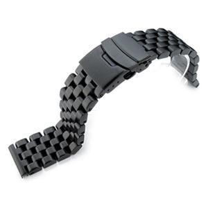 21.5mm メタル時計バンド ステンレススチール スーパーエンジニア ブレスレット PVDブラック for SEIKO Tuna SBBN011, SBBN013, SBBN025, SBBN029他|taikonaut