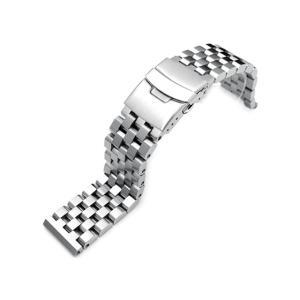 22mm TAIKONAUT メタル時計バンド ステンレススチール スーパーエンジニア2 ブレスレット ブラッシュドシルバー 直径1.8mmバネ棒対応|taikonaut