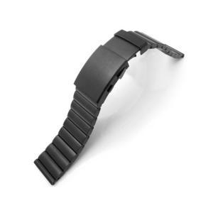 24mm TAIKONAUT メタル時計バンド ステンレススチール バンダリア ブレスレット PVDブラック|taikonaut