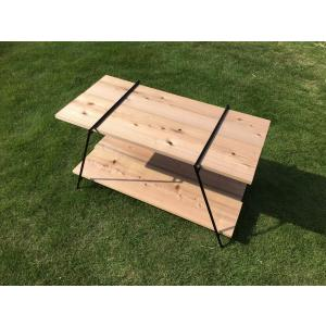 アウトドア、キャンプ、インテリアなど使い方豊富なアイアンラックのテーブルタイプです。 フローリングを...