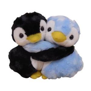 メチャラブ ペンギン ブラック&ブルー ぬいぐるみ M 送料無料 |taimushop