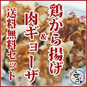 鶏から揚げ&肉餃子送料無料セット(レンジでチン鶏から揚げ8個、肉餃子12個)|taipei