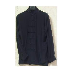 シルク太極拳服 濃紺(光沢なし)|taiqi