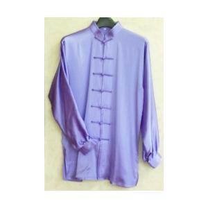 シルク太極拳服  薄紫(光沢あり)|taiqi