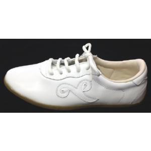 太極拳革靴(白・底約1cm) |taiqi