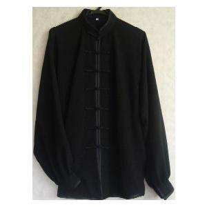 綿麻太極拳服(黒)|taiqi