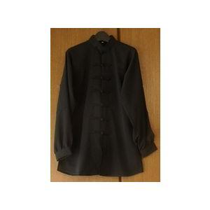 雪絹服(黒・光沢なし)|taiqi