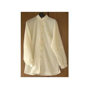 雪絹服(アイボリー・光沢なし)|taiqi