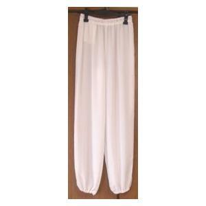 雪絹ズボン白(光沢なし)|taiqi