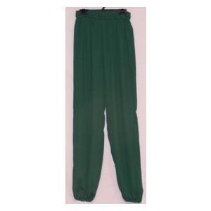 雪絹ズボン エメラルドグリーン(光沢なし)|taiqi