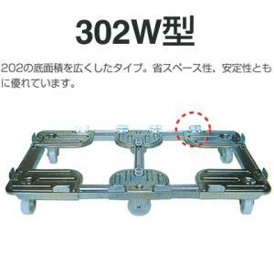 コンテナ用台車・ドーリー台車:ルート工業 ルートボーイ:大型・重量用500kg:大型:302W-11 tairaml