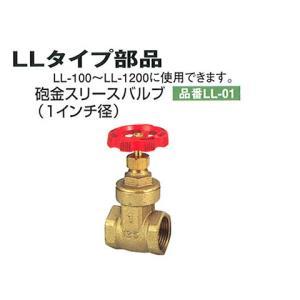 砲金スリースバルブ(1インチ径):貯水槽:セキスイ槽:プラスチックコンテナ:LL-01 tairaml