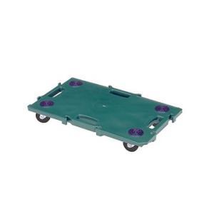 矢崎化工 ミニポリトラー グリーン GN-400 ゴム車輪 75mm W680×D400×H115mm 樹脂 連結 平台車|tairaml