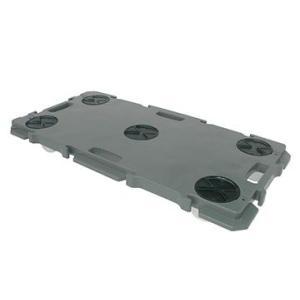 矢崎化工 ミニポリトラー ダークグレー GN-900 ナイロン車輪 75mm W900×D450×H115mm 樹脂 連結 平台車|tairaml