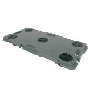 矢崎化工 ミニポリトラー GN-900 業務用 5台セット ゴム車輪 75mm 樹脂 連結 平台車|tairaml