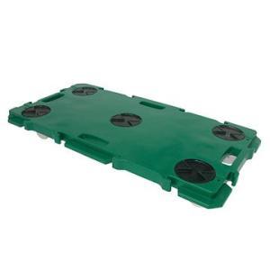 矢崎化工 ミニポリトラーグリーン GN-900 ナイロン車輪 75mm  W900×D450×H115mm 樹脂 連結 平台車|tairaml