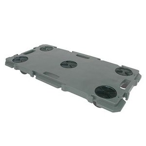 矢崎化工 ミニポリトラー ダークグレー GN-900 ゴム車輪 75mm W900×D450×H115mm 樹脂 連結 平台車|tairaml