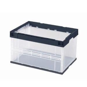 セキスイ 折りたたみ コンテナ ボックス OC-50L 透明/BK(黒) バラ売り 簡易包装|tairaml