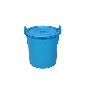 yazaki (ヤザキ) 生活 用品 万能桶 蓋付き L-35 B 外寸:Φ38.5×41.5cm|tairaml